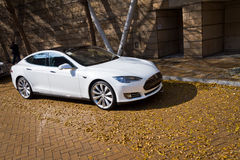 Tesla Model S Electronic Car Royalty Free Stock Image