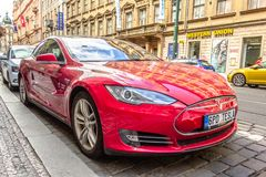 Tesla Model S P85D royaltyfri foto