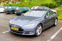 Tesla Model S Royalty Free Stock Image