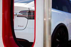 Tesla model x electric car Stock Image