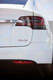Tesla modela X elektryczny samochód Fotografia Stock