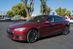 Tesla Models bij de Supercar-Zondagelektrische voertuigen Stock Foto's