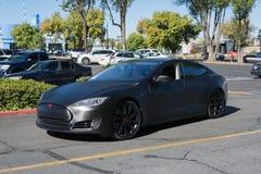Tesla Modelx bij de Supercar-Zondagelektrische voertuigen Royalty-vrije Stock Foto
