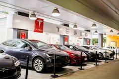 Tesla-Motoren Stockbild