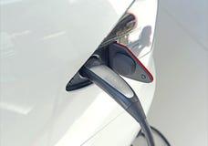 Tesla Motors Model S on display in Manhattan Stock Photos