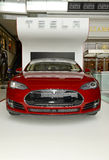 Tesla Motors Model S on display in New York Royalty Free Stock Image
