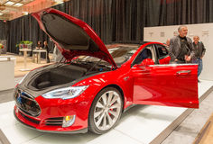 Tesla P85D Fully Electric Car in the CIAS Royalty Free Stock Photo