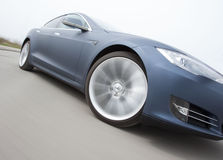 Tesla. Photoshot with a Tesla car Stock Photography