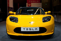 Tesla Roadster Royalty Free Stock Images