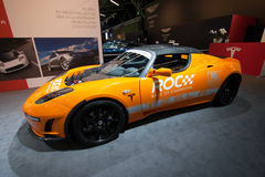 Tesla Roadster car Royalty Free Stock Images