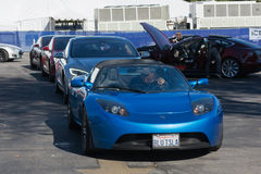 Tesla Roadster at the Supercar Sunday Electric Vehicles Royalty Free Stock Photography