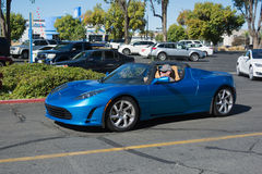 Tesla Roadster at the Supercar Sunday Electric Vehicles Royalty Free Stock Photos