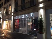 Tesla-Speicher Stockfoto