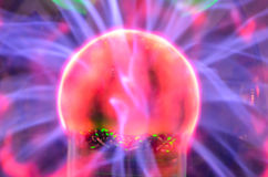 Tesla sphere. Plasma Static Electricity on a Tesla Sphere Royalty Free Stock Photos