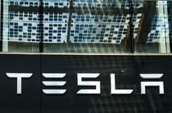 Tesla store Royalty Free Stock Photography