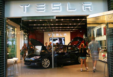 Tesla Store Royalty Free Stock Image