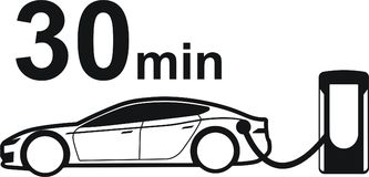 Tesla supercharger Zdjęcie Stock