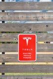 Tesla Supercharger stacja w Shamrock, Teksas Obrazy Stock