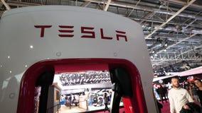Tesla supercharger station for quick 480-volt fast-charging