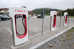 Tesla supercharger Royalty Free Stock Photo