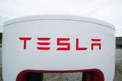 Tesla supercharger Royalty Free Stock Photos