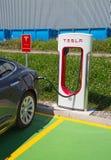 Tesla supercharger Royalty Free Stock Photo
