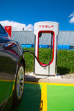 Tesla supercharger Royalty Free Stock Photography