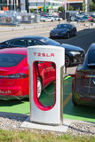 Tesla supercharger Stock Image