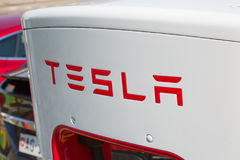Tesla supercharger Stock Photo
