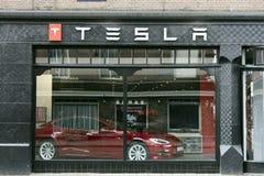 Teslaopslag in Amsterdam royalty-vrije stock afbeeldingen