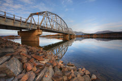 Teslin Lake bridge Royalty Free Stock Image