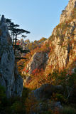 Tesnei Gorges. Sunset in Tesnei Gorges, Domogled National Park, Romania Stock Photography
