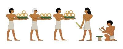 Tesorero y escribano de Egipto antiguo imagen de archivo