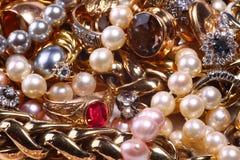 Tesoro de la joyería Fotos de archivo libres de regalías