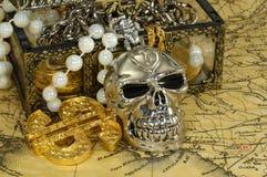 Tesoro del pirata Fotografia Stock