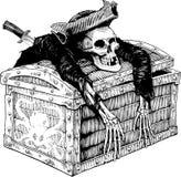 Tesoro del pirata Fotografia Stock Libera da Diritti
