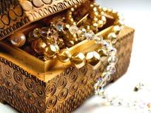 Tesoro di jewelery della perla Fotografie Stock