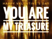 Tesoro feliz de las tarjetas del día de San Valentín Imagen de archivo