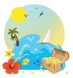 Tesoro tropicale dell'isola Fotografie Stock Libere da Diritti