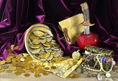Tesoros del pirata Fotografía de archivo libre de regalías