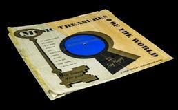 Tesoros viejos de la música del vintage del álbum del mundo fotos de archivo