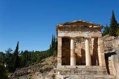 Tesouraria ateniense em Delphi Imagem de Stock