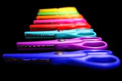 Tesouras coloridas fotografia de stock