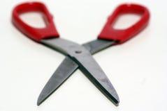 Tesouras de aço vermelhas Imagem de Stock
