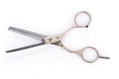 Tesouras de diluição do cabelo Imagem de Stock Royalty Free