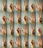 Tesouras de papel da rocha Fotografia de Stock