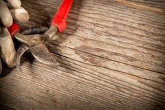 Tesouras de poda usadas Imagem de Stock Royalty Free