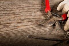 Tesouras de poda usadas Imagens de Stock