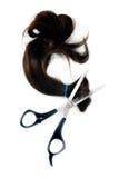 Tesouras do cabelo e da estaca do cabelo Foto de Stock
