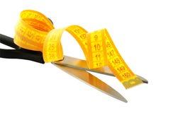 Tesouras e medição Foto de Stock